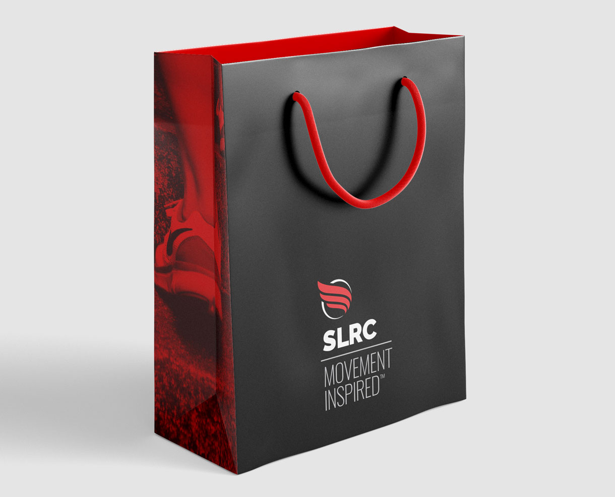 Shopping Bag Design produced for Salt Lake Running Company